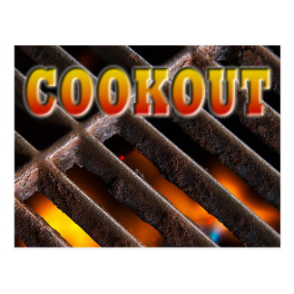 Cookout Postcard Invitation
