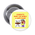 cookouts pinback button