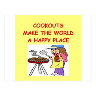 cookouts postcard