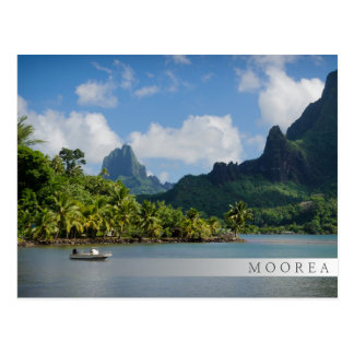 Cook's Bay, Moorea fading bar postcard