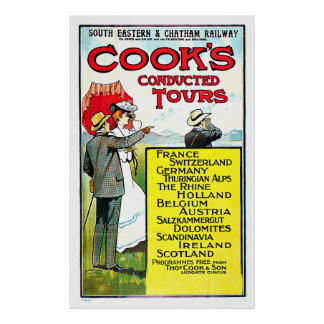 Cook's Conducted Tours Europe Travel Art Poster