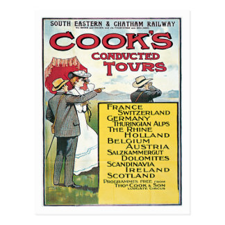 Cook's Conducted Tours Vintage Postcard