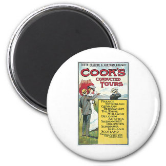 Cook's Conducted Tours Vintage Refrigerator Magnet