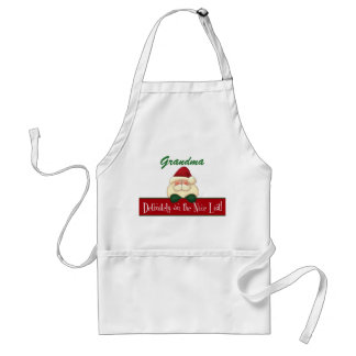 Cook's Definitely on the Nice List with Santa Adult Apron