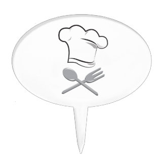Cooks Hat Cake Toppers