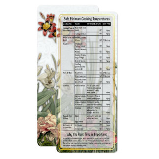 Cook's Helper-Safe Cooking Temps Card #2