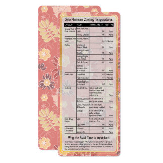 Cook's Helper-Safe Cooking Temps Card #3