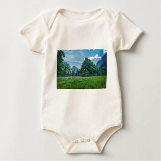 Cook's Meadow View of Half Dome Baby Bodysuit