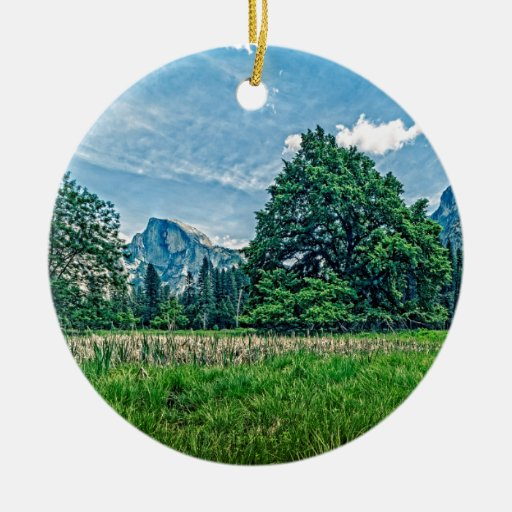 Cook's Meadow View of Half Dome Ornaments
