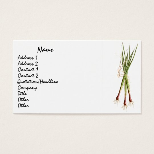 Cooks' Onions Business Card