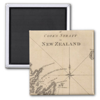 Cook's Strait, New Zealand 2 Inch Square Magnet