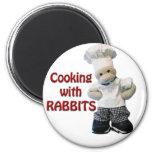 CookwifRabbits Fridge Magnet