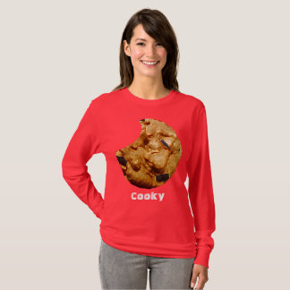 Cooky Red Long Sleeve T-Shirt