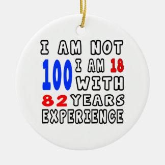 Cool 100 Birthday Designs Ornaments