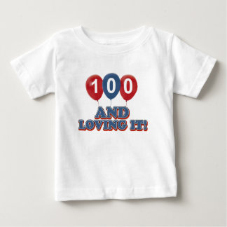 Cool 100 year old birthday designs baby T-Shirt