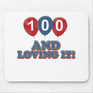 Cool 100 year old birthday designs mouse pad