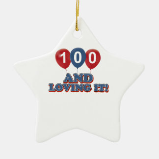 Cool 100 year old birthday designs christmas tree ornaments