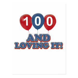Cool 100 year old birthday designs postcard