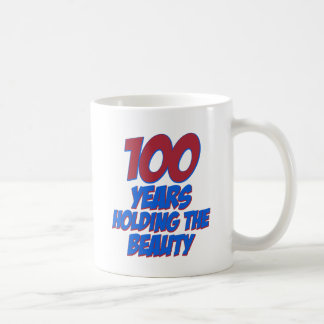 cool 100 years old birthday designs coffee mug