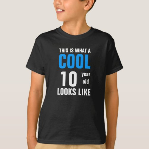Cool 10 year old looks like T_Shirt