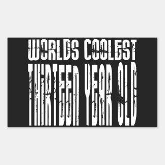 Cool 13th Birthdays Worlds Coolest Thirteen Year Rectangular Sticker