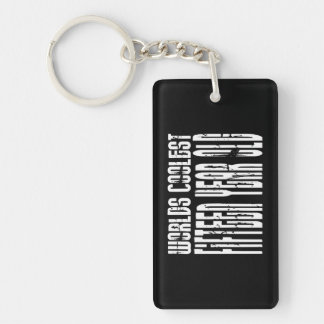 Cool 15th Birthdays Worlds Coolest Fifteen Year Double-Sided Rectangular Acrylic Keychain