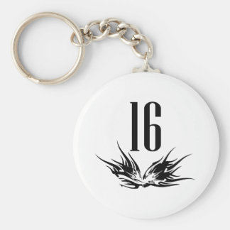 Cool 16th Birthday Gift Keychain