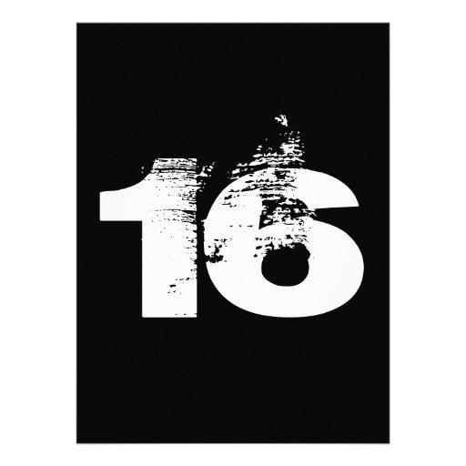 Cool 16th Birthday Party Custom Invitation