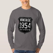 Cool 1954 aged to perfection 60th Birthday shirt