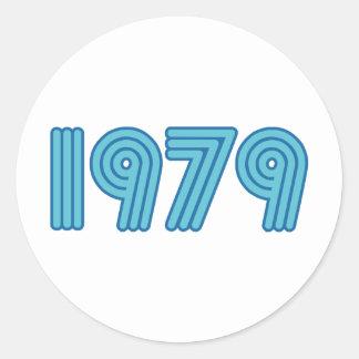 Cool 1979 design classic round sticker