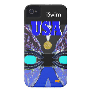 Cool 2012 USA Sports iSwim Gold Medal iPhone Case