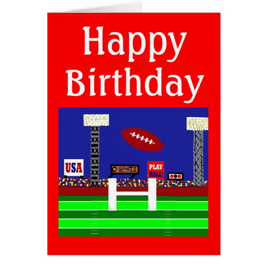 Cool 2013 Kids Football Happy Birthday Card Gift