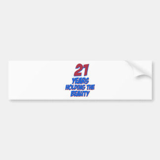 cool 21 years old birthday designs bumper sticker