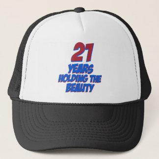 cool 21 years old birthday designs trucker hat