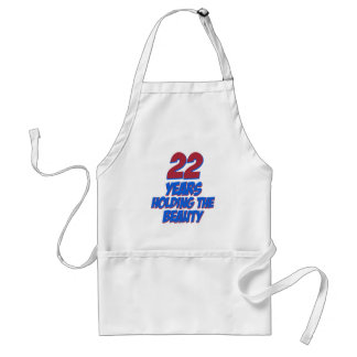 cool 22 years old birthday designs adult apron