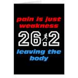 Cool 26.2 marathon greeting card