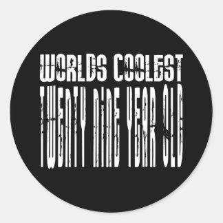 Cool 29th : Worlds Coolest Twenty Nine Year Old Classic Round Sticker