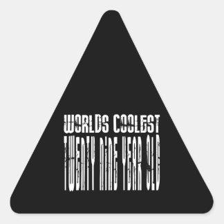 Cool 29th : Worlds Coolest Twenty Nine Year Old Triangle Sticker