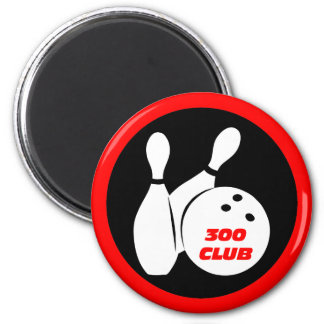 Cool 300 bowling 2 inch round magnet