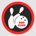 Cool 300 bowling round stickers