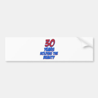 cool 30 years old birthday designs bumper sticker