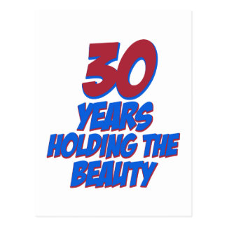 cool 30 years old birthday designs postcard
