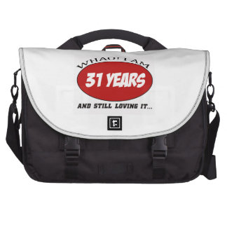 cool 31 years old birthday designs commuter bags