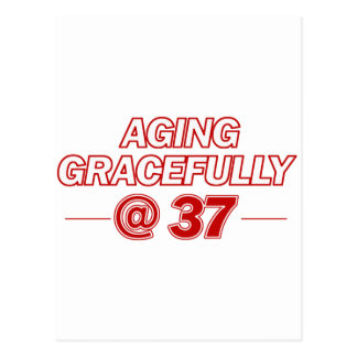 cool 37 years old gifts postcards
