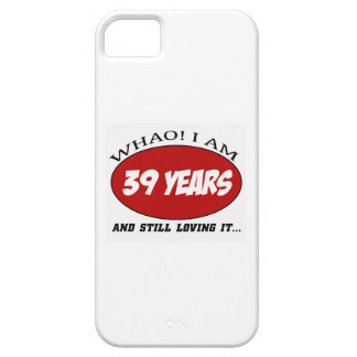 cool 39 years old birthday designs iPhone 5 cover