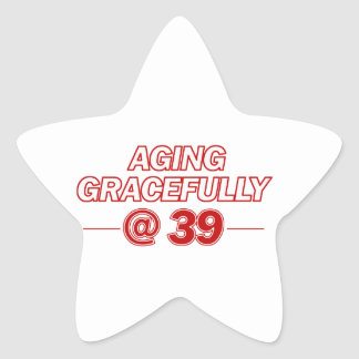 cool 39 years old gifts star sticker