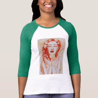 Cool, 3/4-sleeved tee in 'Harmony' **no border**