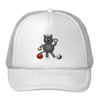 "Cool ""3-D"" Alley Cat Athlete Trucker Hat"