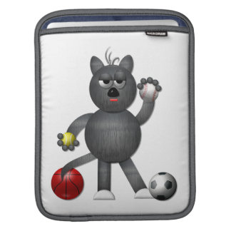 """Cool """"3-D"""" Alley Cat Athlete iPad Sleeve"""
