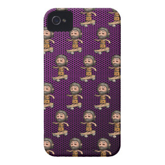 Cool 3d Caveman Skateboarding iPhone 4 Covers